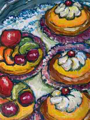 PAULA M EGOLF Signed Acrylic Painting Artwork