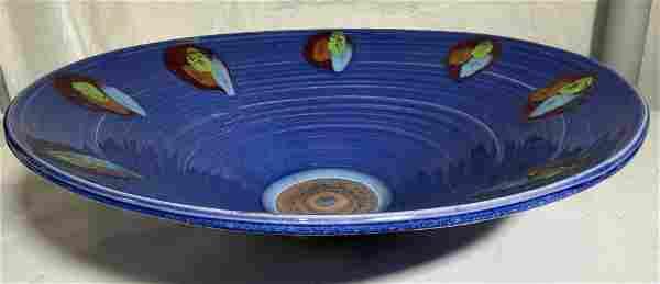Grand Signed Ceramic Centerpiece Bowl