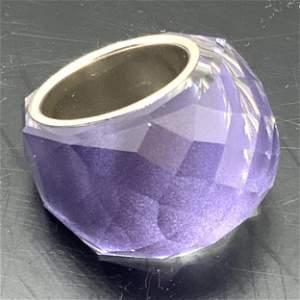 SWAROVSKI Signed Purple Crystal Nirvana Ring