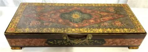 CASTILIAN IMPORTS Footed Lacquerware Keepsake Box