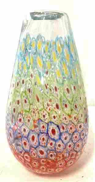 MURANO Glass Art Glass Centerpiece Vase