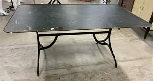 Antique Metal Table w Iron Base