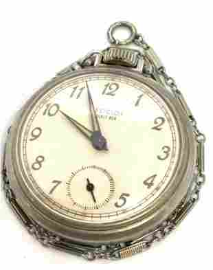 Vintage WESTCLOX POCKET BEN Pocket Watch W/ FOB