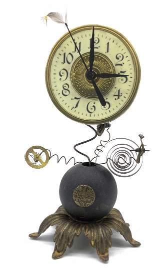 ROGER WOOD KLOCKWERKS Steam Punk Style Clock