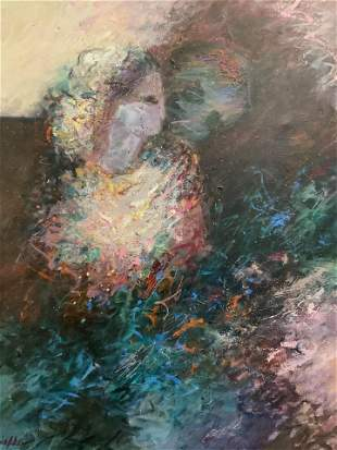 MARY LOU SIEFKER Signed Abstract Oil on Canvas