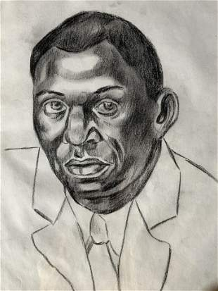 Signed Drawing Attributed to CHARLES WHITE