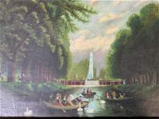 Charles G. Cald Antique Oil Painting of River Scene