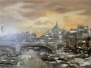THEO VOORSCHOT Signed Oil Painting