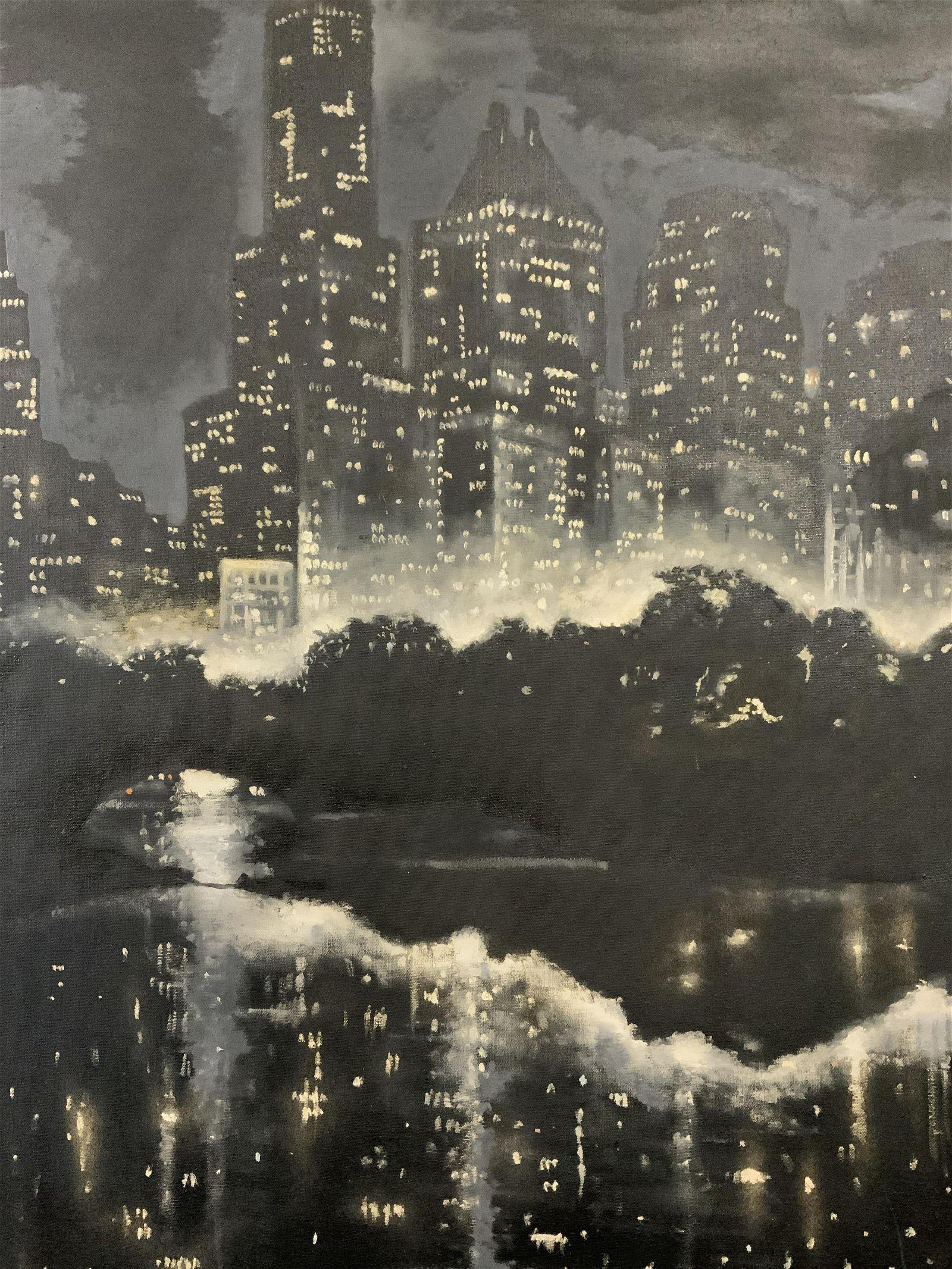 De Roza Signed Oil on Canvas Cityscape