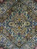 Fringed Wool Oriental Carpet