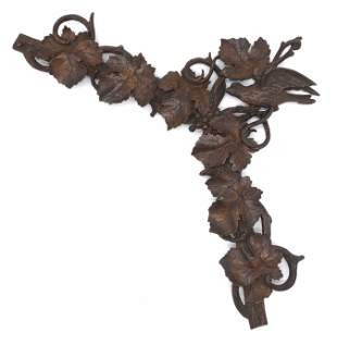 Vintage Black Forest Hand Carved Wooden Wall Decor
