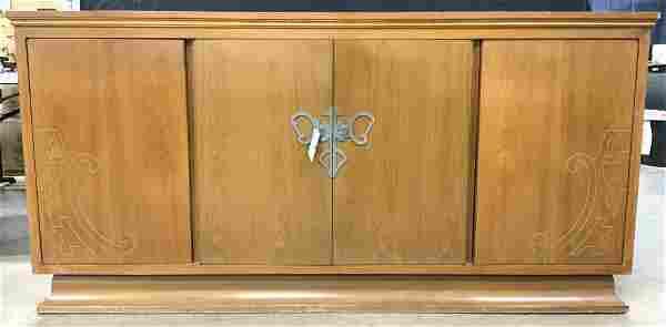 Art Deco Brass Inlay Sideboard Desk