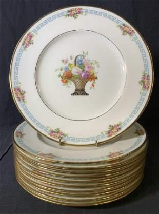 Set 11 Vintage CAULDON England Porcelain Plates