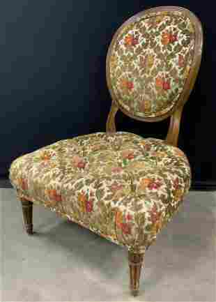 Antique Tufted Low Side Chair