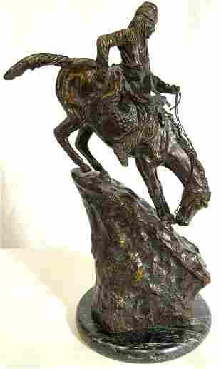 Signed Bronze FREDERIC REMINGTON Mountain Man