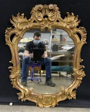 Antique Ornate Gilt Framed Mirror