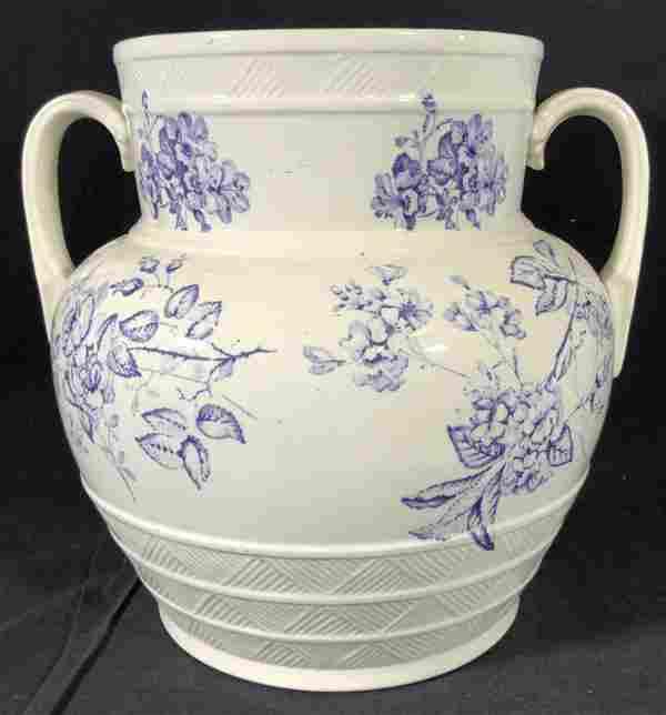 Antique Collectible Transferware Ironstone Vase