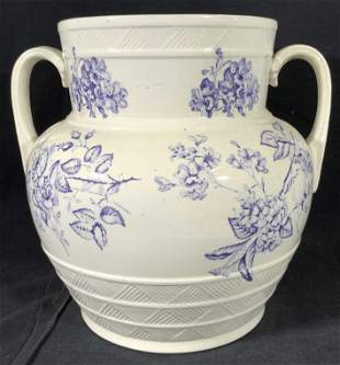 Antique Collectible Transferware Ironstone Vase