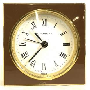 TIFFANY & CO Brass Desk Clock
