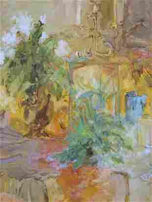 PISANI M Signed Acrylic Painting