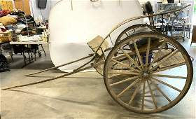 Antique Wooden & Metal Horse Carriage