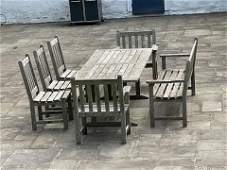 Set 7 Wood Classics Teak Outdoor Dining Lounge Set