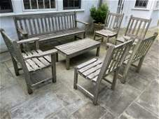 Set 7 Wood Classics Teak Outdoor Lounge Set