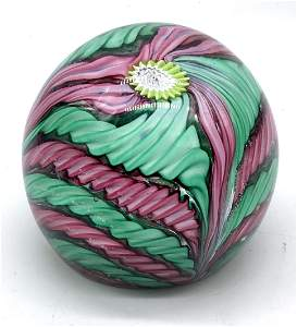 Colorful Art Glass Paperweight