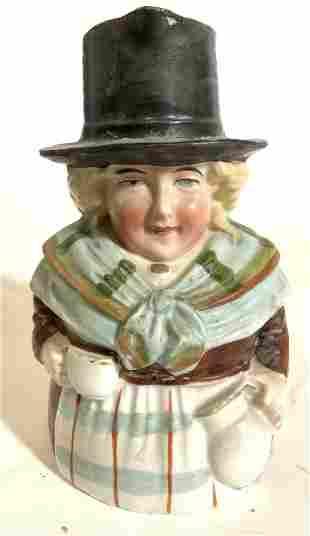 Vintage Hand Painted Female Fig Porcelain Creamer