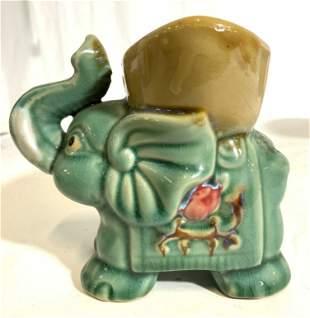 Vintage Petite Asian Ceramic Elephant Planter