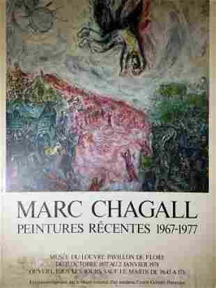 MARC CHAGALL Centre Pompidou Exhibition Poster