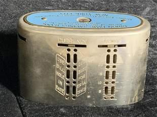 Vntg UNION DIME SAVINGS BANK Metal Coin Bank
