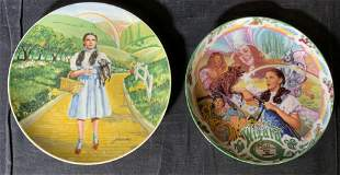 Lot 2 KNOWLES China Wizard of Oz Plates