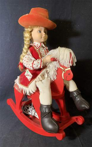 TELCO Motion-ette Girl on Rocking Horse