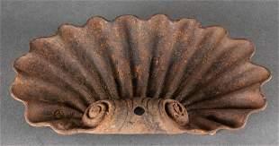 Cast Iron Garden Ornament Shell, Antique