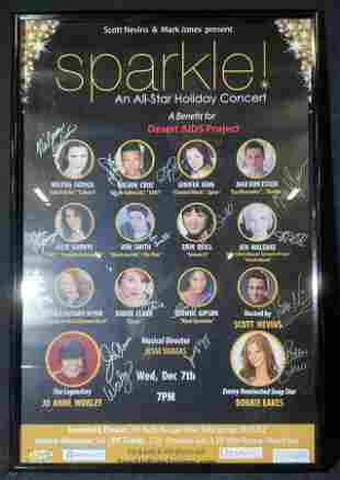 Signed Sparkle! Holiday Concert Poster