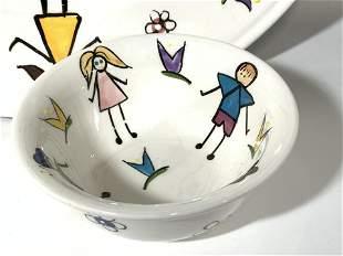 Signed Aviv Judaica Imports Ceramic Latke Plate