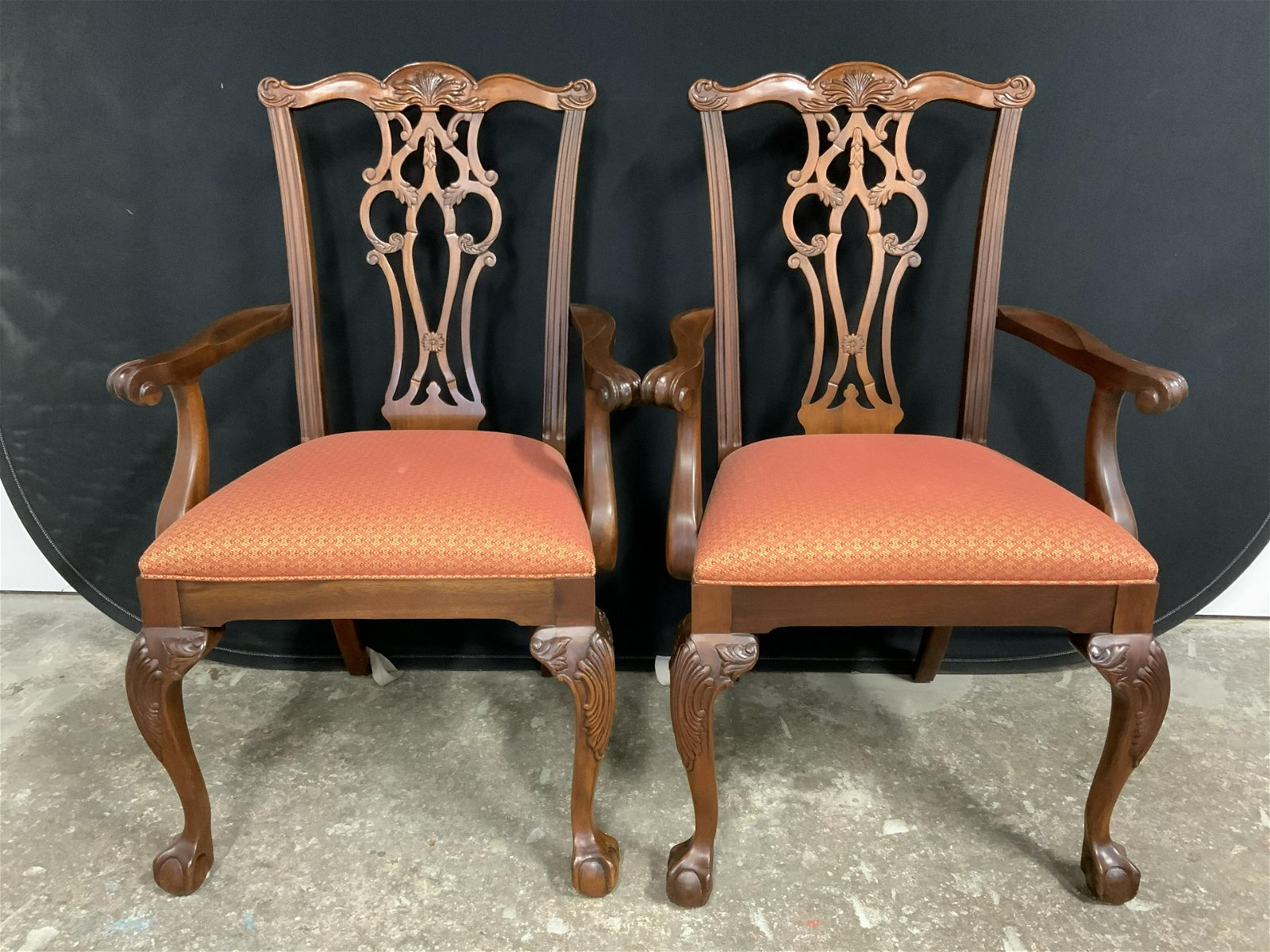 Set 6 ETHAN ALLEN Mahogany Collection Chairs