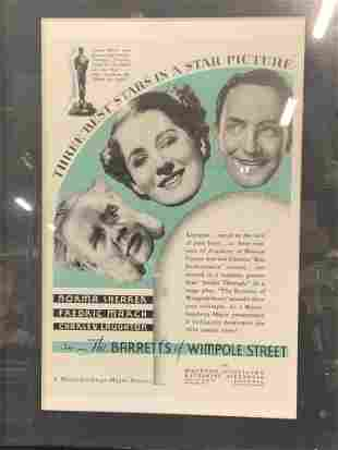 The Barretts of Wimpole Street Lithograph