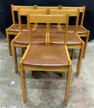 Set 6 Wooden Side Chairs