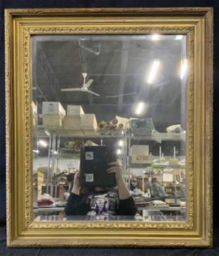 Gold Painted Wooden Framed Mirror