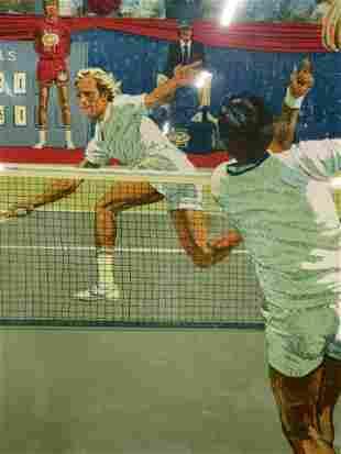 JIM JONSON Signed WCT Tennis Ltd Ed Lithograph