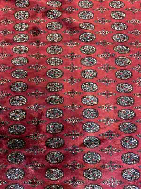 Signed Vintage Handmade Caucasian Wool Rug