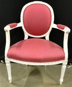 Vintage Victorian Style Upholstered End Chair