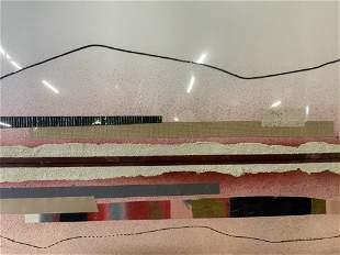 Signed MACCARIOLI Abstract Mixed Media Artwork