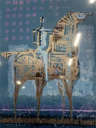 ROWLAND Signed Ltd Ed Lithograph Night Rider