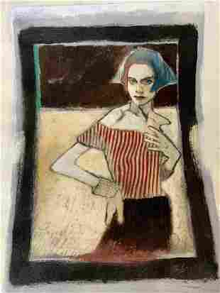 Signed Serigraph of a Woman