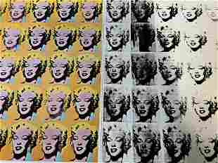 Andy Warhol Marilyn Monroe Pop Art Lithograph