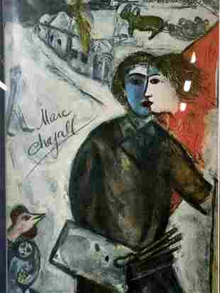 Photograph of Marc Chagall Lithograph