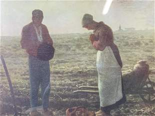 MILLET The Angelus Offset Lithograph